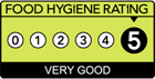 Expresso Café has a Food Hygeine Rating of Very Good > 5 out of 5