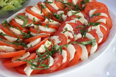 Weddings & Parties Gallery | Tomato and mozzarella dish