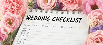 wedding planning list
